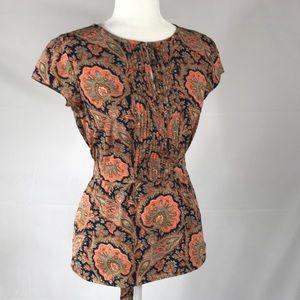 Tommy Hilfiger- Tie back blouse, paisley, size S